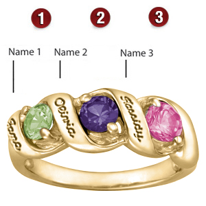 Melodic Rounds 10kt Yellow Gold Mother's Ring