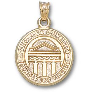 14kt Yellow Gold 5/8in Longwood University Seal Pendant