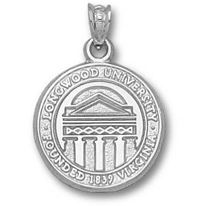 Sterling Silver 5/8in Longwood University Seal Pendant