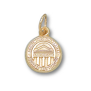 14kt Yellow Gold 3/8in Longwood University Seal Charm