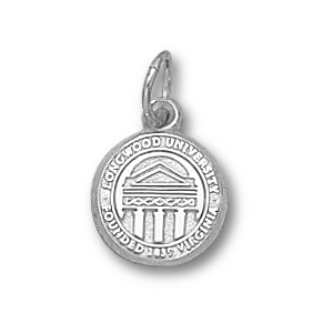 Sterling Silver 3/8in Longwood University Seal Charm