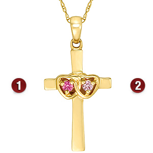 Promise Cross 14kt Yellow Gold Pendant