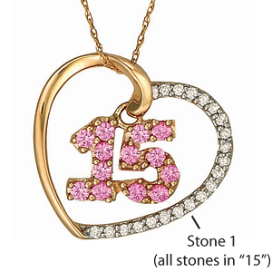10kt Yellow Gold Quince Necklace Simulated Stones
