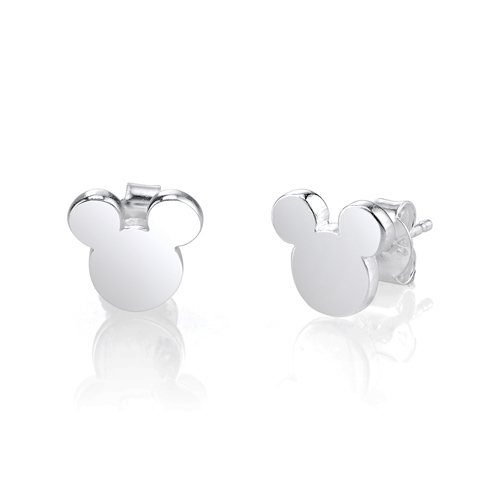 Sterling Silver Mickey Mouse Silhouette Earrings
