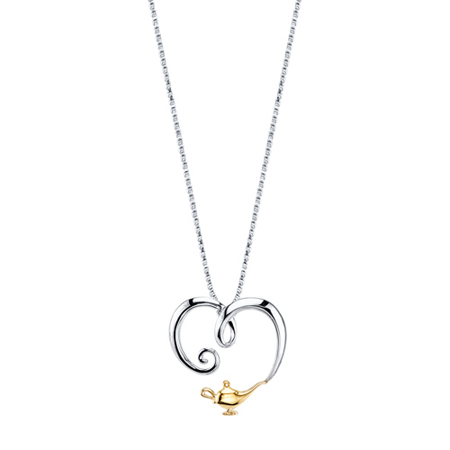 Sterling Silver 10kt Yellow Gold Aladdin 18in Necklace