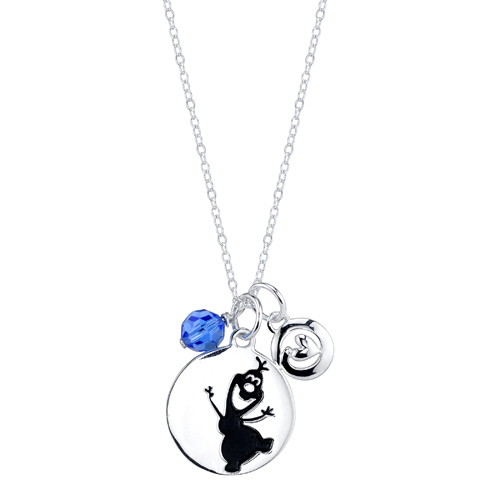Sterling Silver Frozen Olaf Pendant on 18in Chain