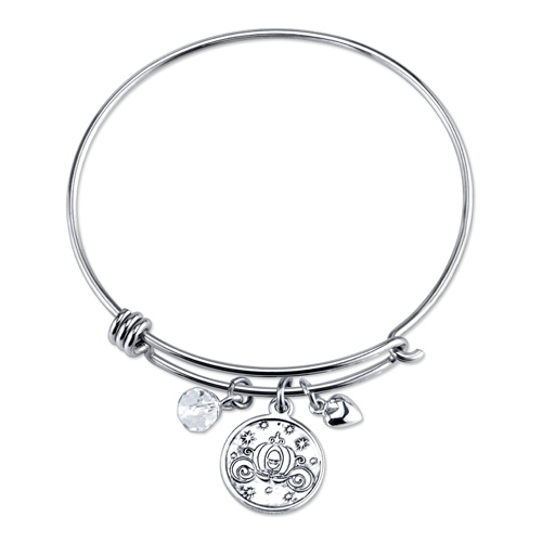 Sterling Believe Cinderella Bangle