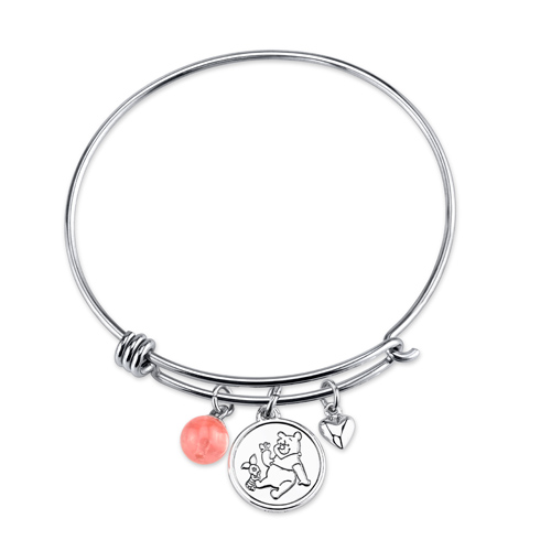 Sterling Silver Winnie The Pooh Bangle Bracelet