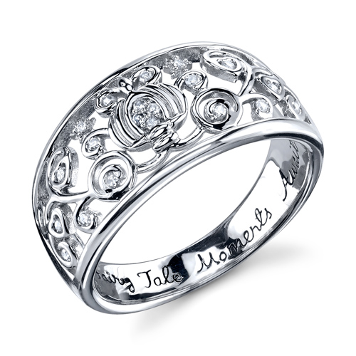 Diamond Fairy Tale Moments Await Cinderella Ring Size 7