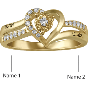 10kt Yellow Gold Sincere Promise Ring