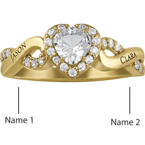 14kt Yellow Gold Starry Promise Ring
