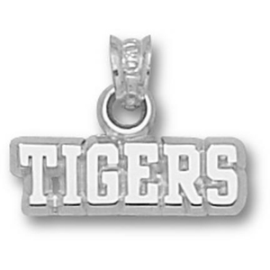 LSU Tigers 3/16in Sterling Silver Pendant