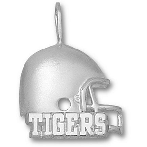 LSU Tigers 3/4in Sterling Silver Helmet Pendant