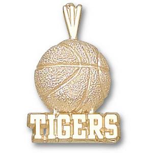 LSU Tigers 3/4in 10k Basketball Pendant