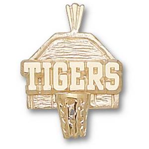 LSU Tigers 5/8in 14k Backboard Pendant
