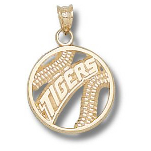 LSU Tigers 10k Baseball Pendant 5/8in