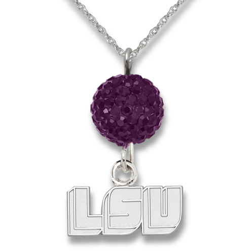 Louisiana State University Crystal Ovation Necklace