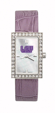 LSU Tigers Starlette Leather Watch