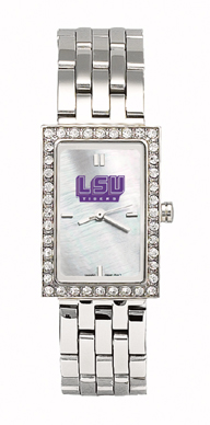 LSU Tigers Starlette Stainless Steel Watch