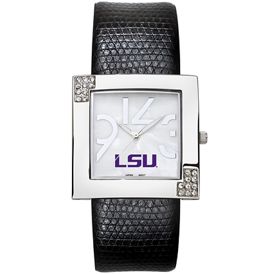 Louisiana State University Chrome Ladies Glamour Watch - Clearance