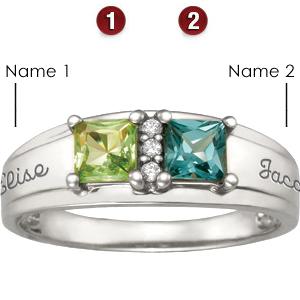 14kt White Gold True Love Promise Ring