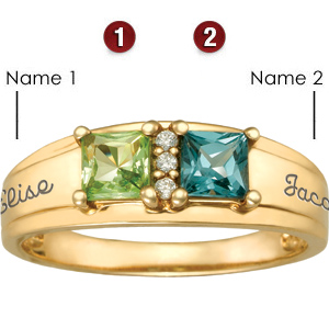 14kt Yellow Gold True Love Promise Ring