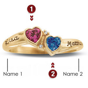 Promise ring with name personalization