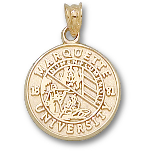14kt Yellow Gold 5/8in Marquette University Seal Pendant
