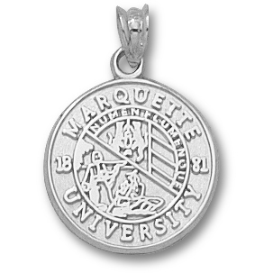 Sterling Silver 5/8in Marquette University Seal Pendant