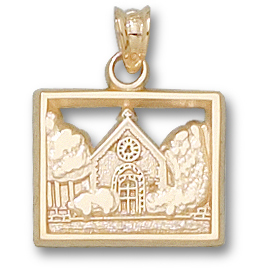 Marquette Chapel 1/2in Pendant 10kt Yellow Gold