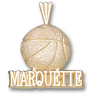 14kt Yellow Gold Marquette Basketball 3/4in Pendant