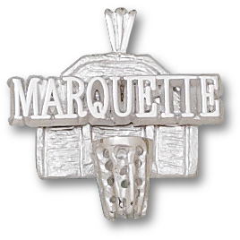 Sterling Silver Marquette 3/4in Basketball Hoop Pendant