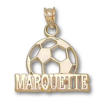 Marquette Soccer 1/2in Pendant 14kt Yellow Gold