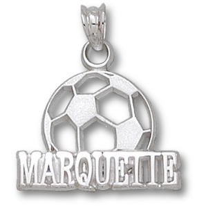 Marquette Soccer 1/2in Pendant Sterling Silver