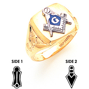 Signet Blue Lodge Ring - 14k Gold