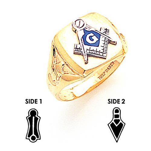 Signet Blue Lodge Ring - 10k Gold