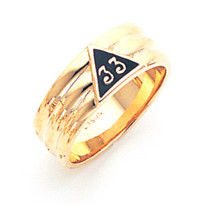 14kt Yellow Gold Scottish Rite 33rd Degree Ring