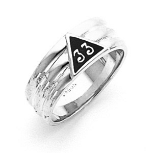14kt White Gold Scottish Rite 33rd Degree Ring