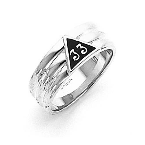 14kt White Gold Scottish Rite 33rd Degree Ring