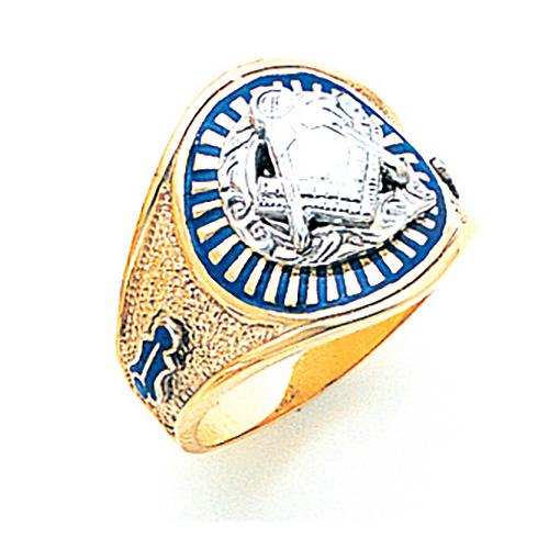 10kt Gold Jumbo Oval Masonic Ring - Designer