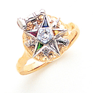 Eastern Star Past Matron Ring - 14k Gold