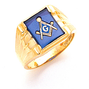 Masonic 3rd Degree Blue Lodge Ring - 10k Gold