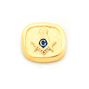 Yellow Gold Plated Oblong Masonic Tie Tac