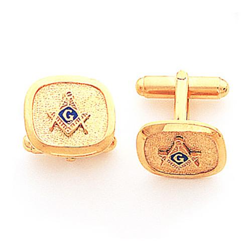 Yellow Gold Filled Masonic Cufflinks