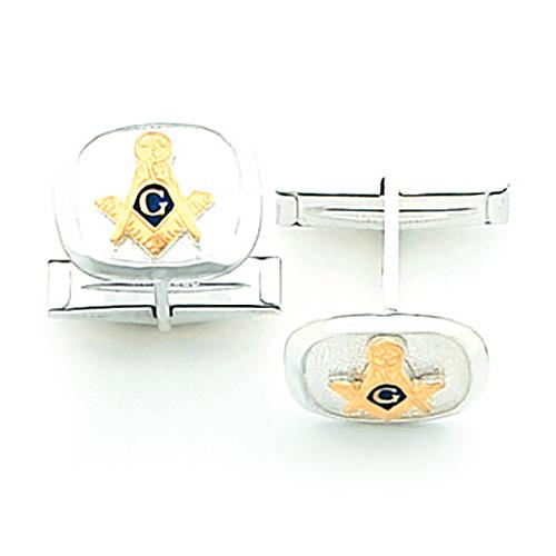 Sterling Silver Masonic Cufflinks