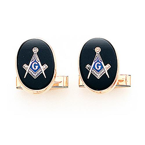 14kt Yellow Gold Large Masonic Cufflinks