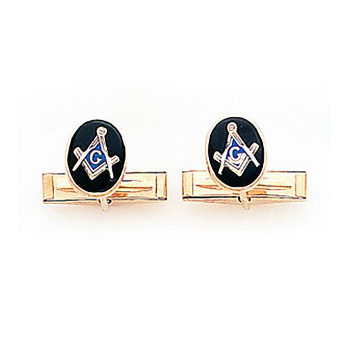 14kt Yellow Gold Small Masonic Cufflinks