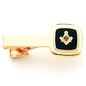 3/4in Masonic Tie Bar - Yellow Gold Plated