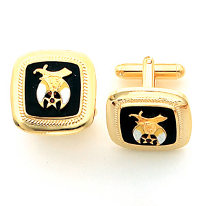 Yellow Gold Plated Shriners Cufflinks