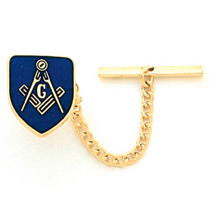Masonic Shield Tie Tac - Yellow Gold Plated